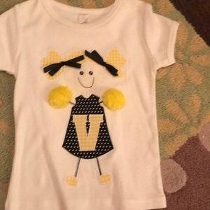 Other - Custom made Vanderbilt cheer girl white soft tee